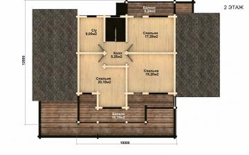 Фото #4: деревянный дом ПДБ-41 из клееного бруса купить за 12685000 (цена «Под ключ»)