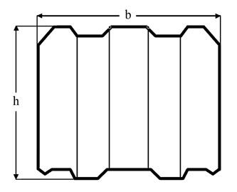 Высота и ширина клееного бруса
