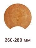 Фото профиля бревна диаметром 260-280 мм