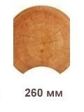 Профиль бревна норвежской рубки 260 мм