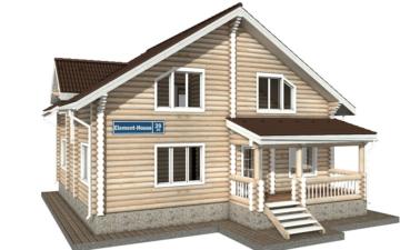 Фото #1: Красивый деревянный дом РС-39 из бревна