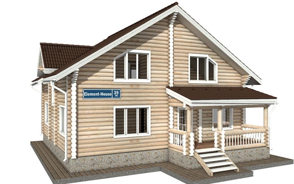 РС-39 - деревянный дома из бревна (из сруба)