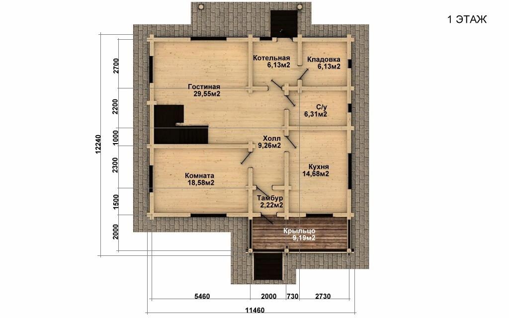Фото #4: Красивый деревянный дом РС-39 из бревна