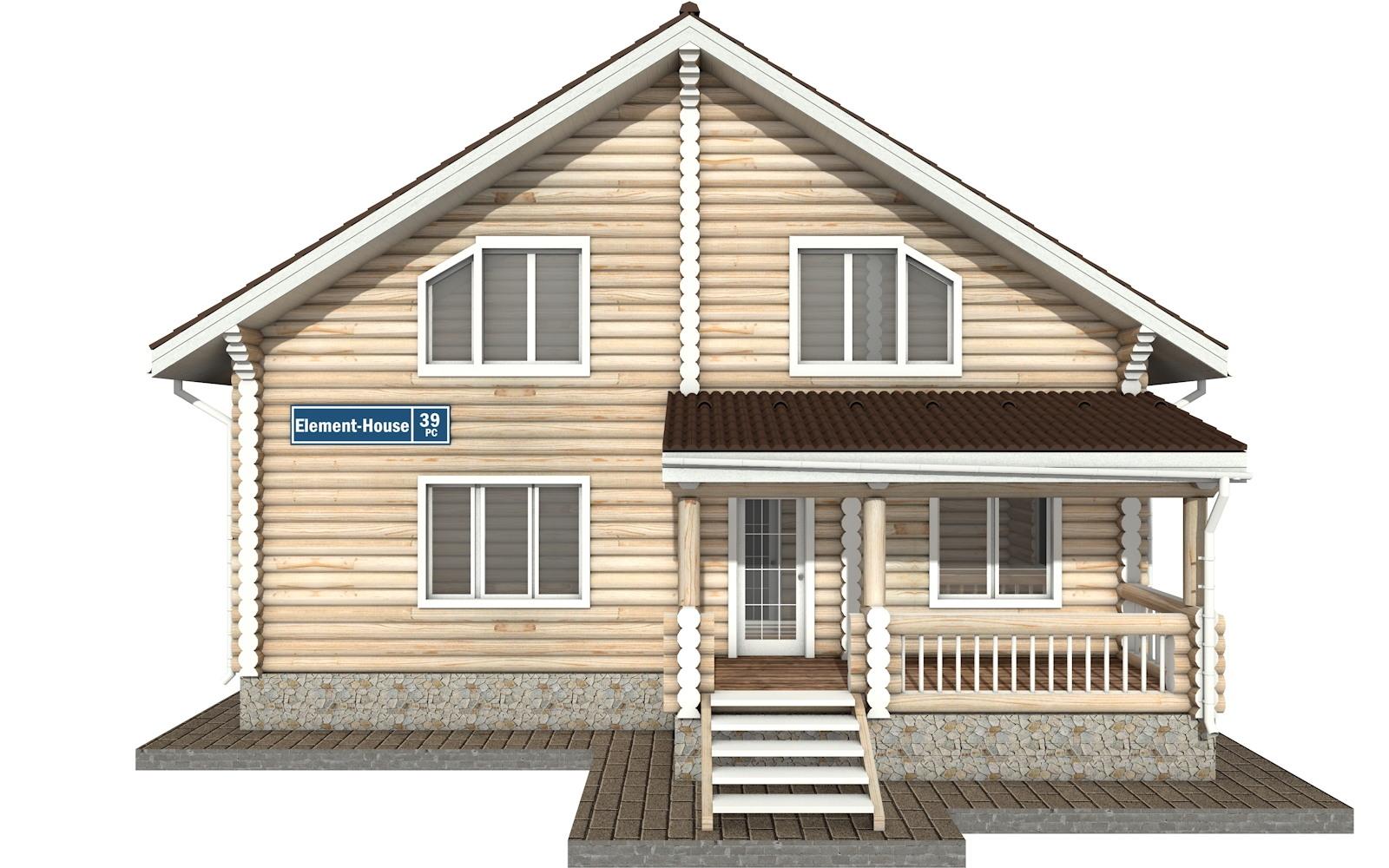 Фото #6: Красивый деревянный дом РС-39 из бревна