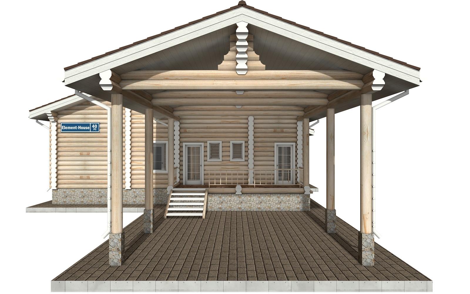 Фото #5: Красивый деревянный дом РС-40 из бревна