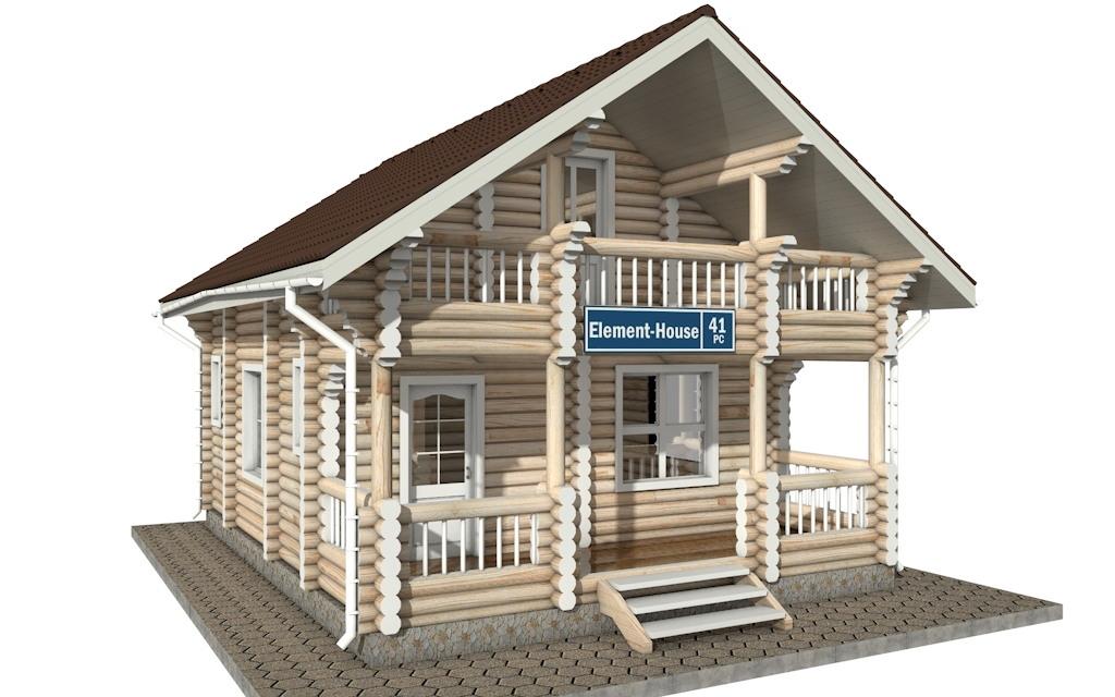 РС-41 - деревянный дома из бревна (из сруба)