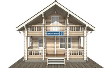 Фото #7: Красивый деревянный дом РС-41 из бревна