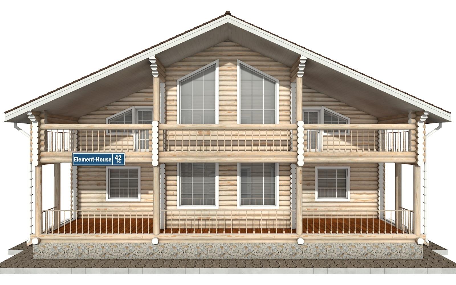 Фото #6: Красивый деревянный дом РС-42 из бревна