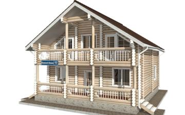 Фото #1: Красивый деревянный дом РС-43 из бревна