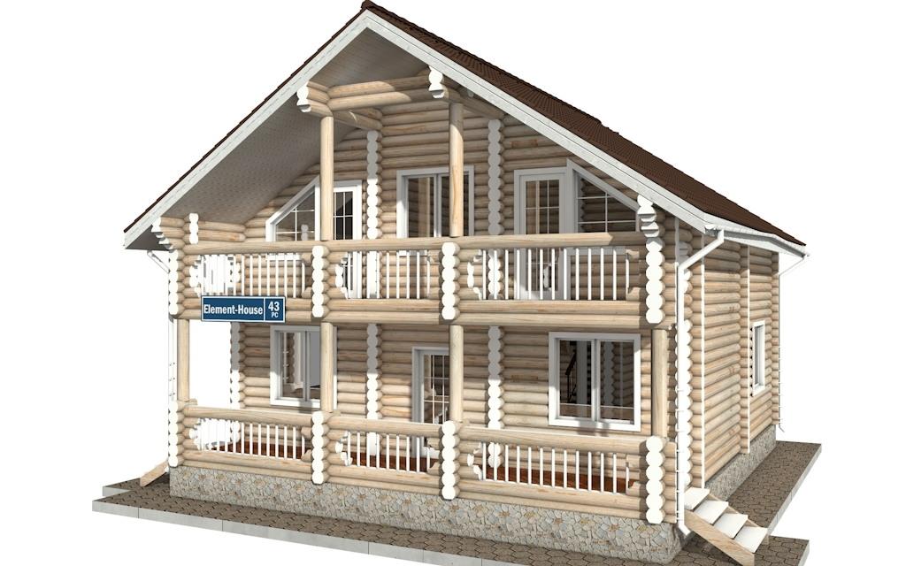 РС-43 - деревянный дома из бревна (из сруба)