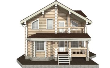 Фото #7: Красивый деревянный дом РС-4 из бревна
