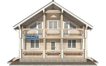 Фото #7: Красивый деревянный дом РС-43 из бревна
