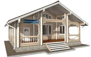 Фото #1: Красивый деревянный дом РС-44 из бревна