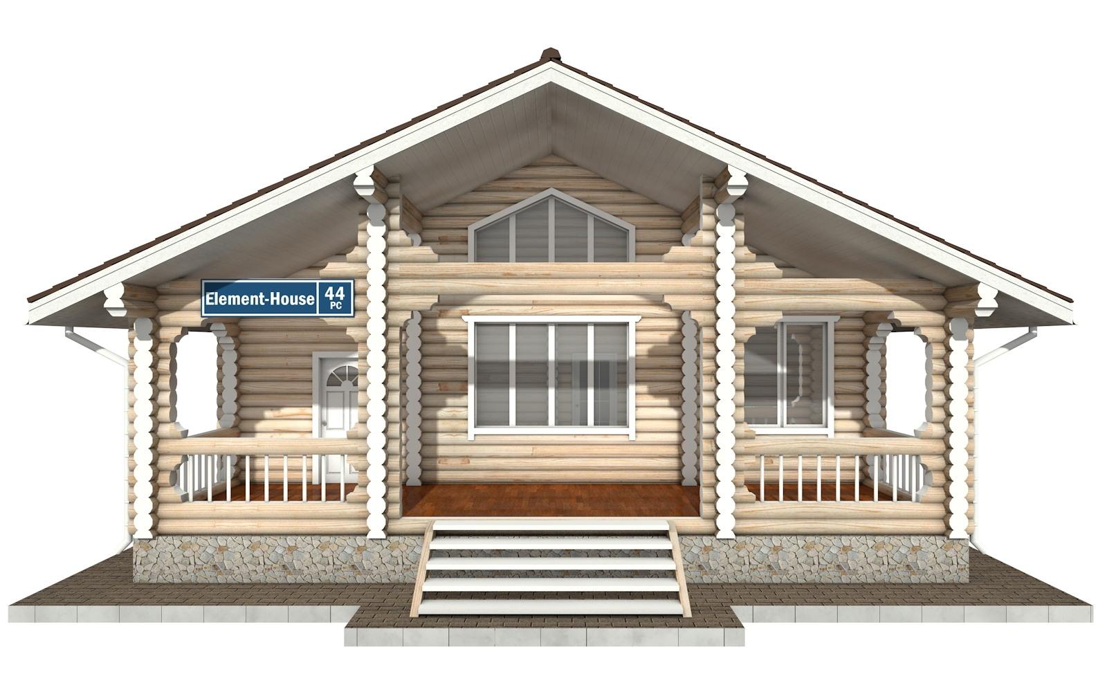 Фото #5: Красивый деревянный дом РС-44 из бревна