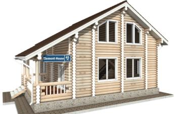 Фото #1: Красивый деревянный дом РС-45 из бревна