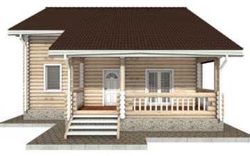 Фото #7: Красивый деревянный дом РС-45 из бревна