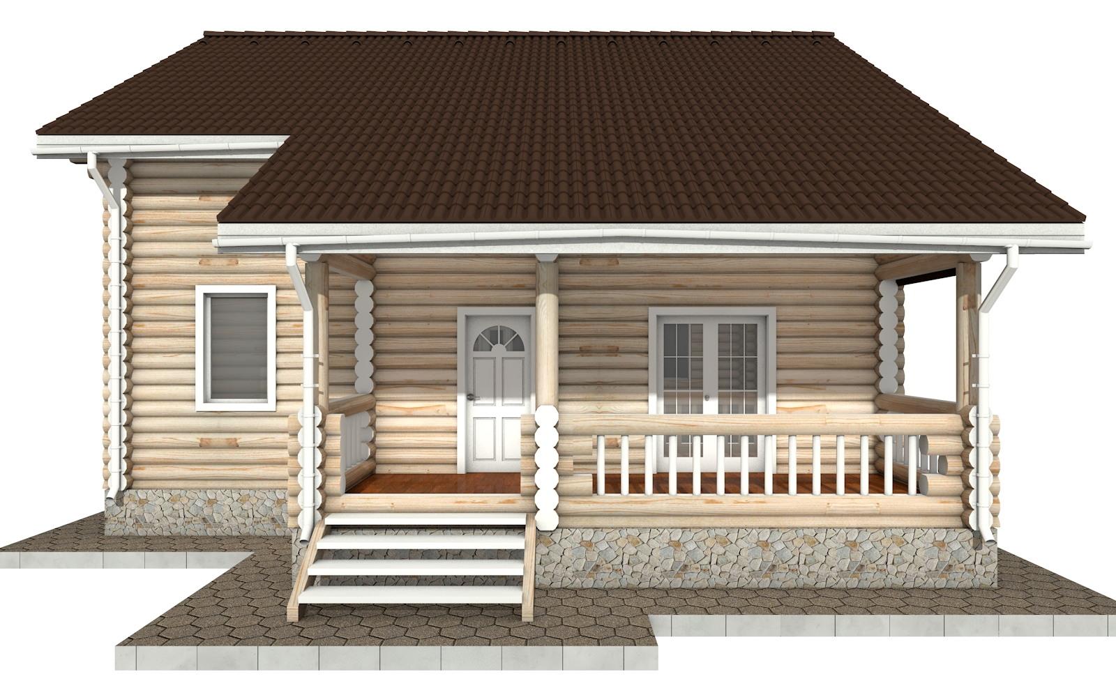 Фото #6: Красивый деревянный дом РС-45 из бревна
