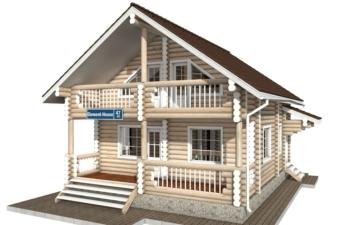 Фото #1: Красивый деревянный дом РС-47 из бревна