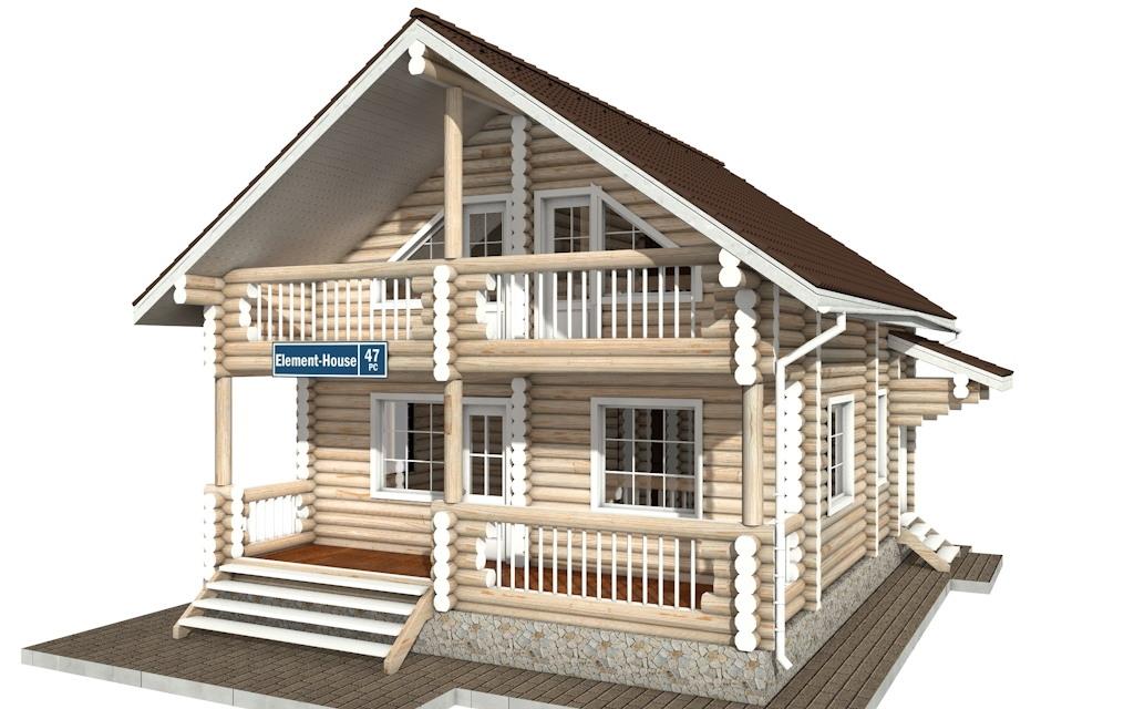 РС-47 - деревянный дома из бревна (из сруба)