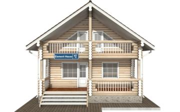Фото #7: Красивый деревянный дом РС-47 из бревна