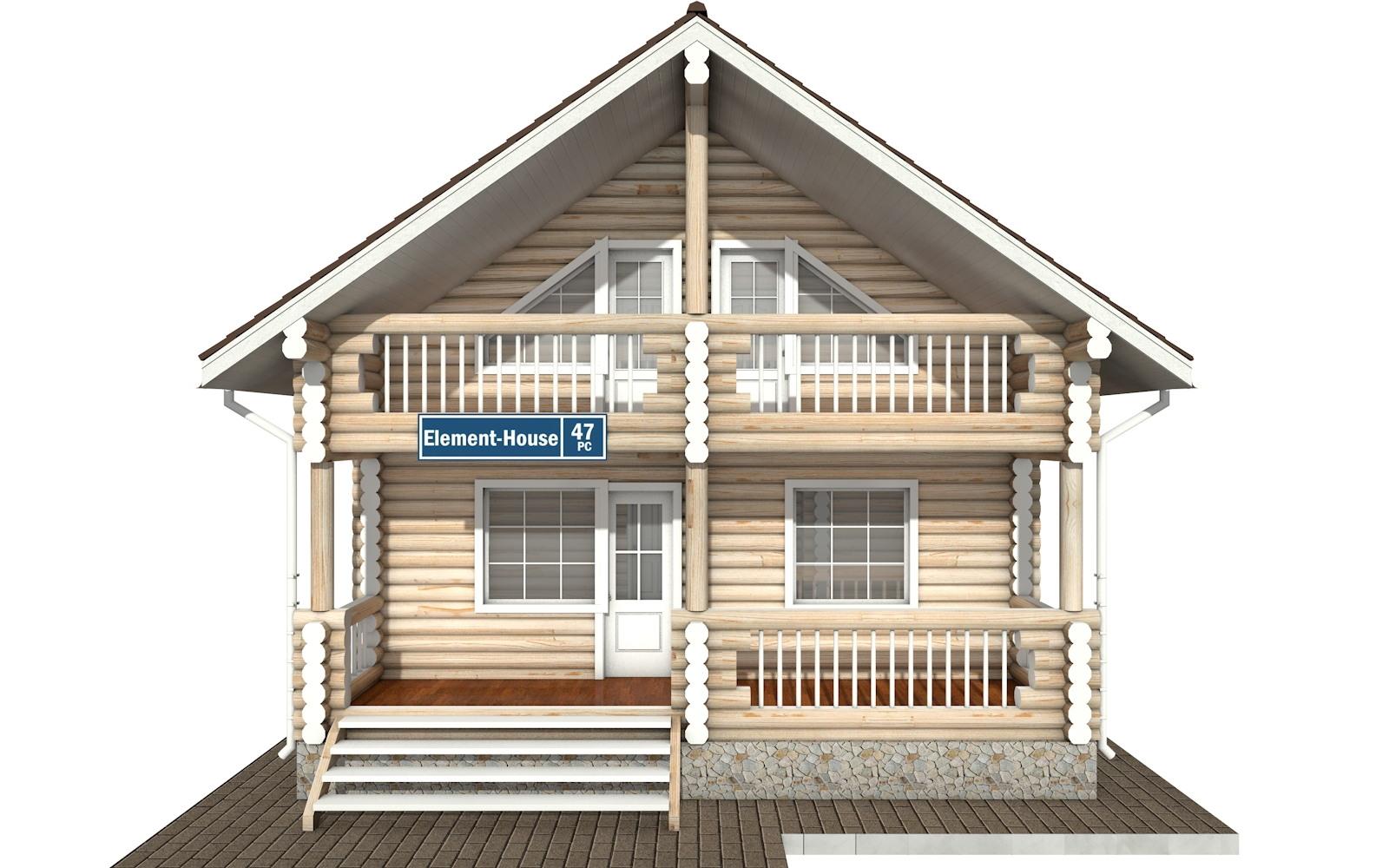 Фото #6: Красивый деревянный дом РС-47 из бревна