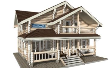 Фото #1: Красивый деревянный дом РС-5 из бревна