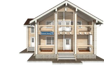 Фото #7: Красивый деревянный дом РС-48 из бревна