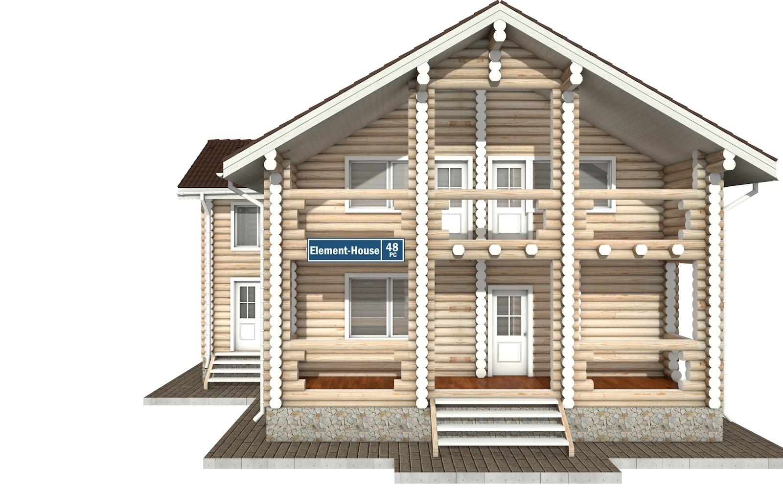 Фото #6: Красивый деревянный дом РС-48 из бревна