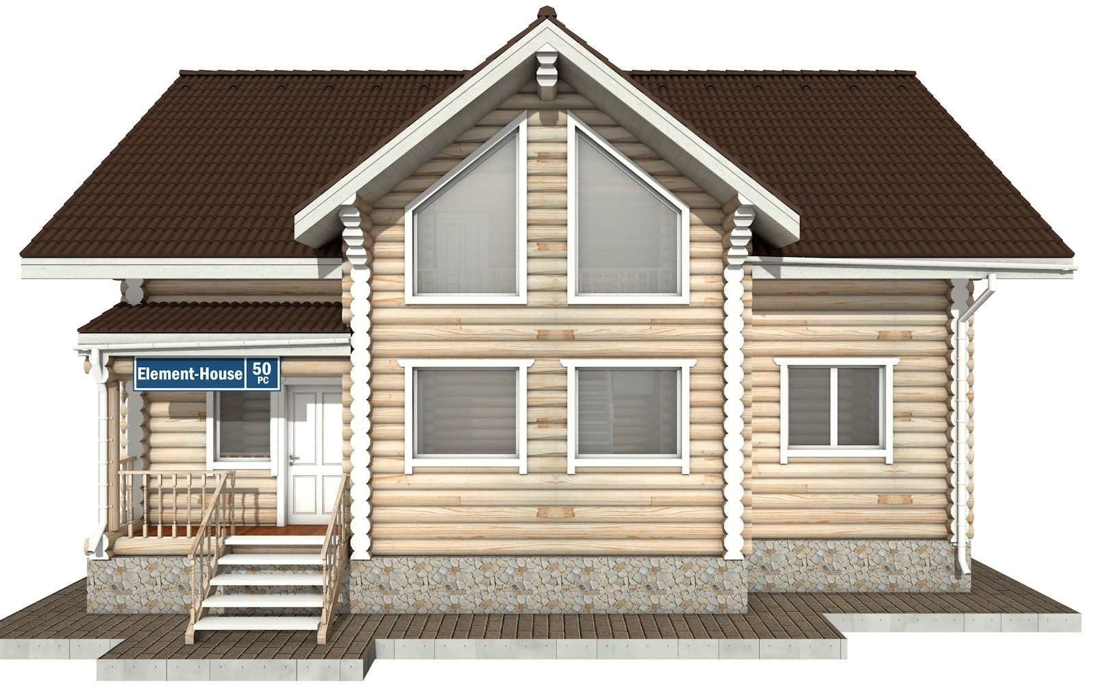 Фото #6: Красивый деревянный дом РС-50 из бревна