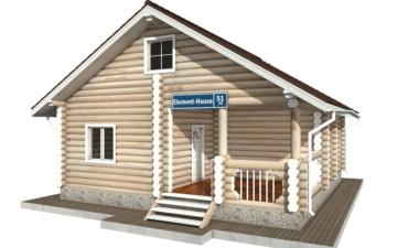 Фото #1: Красивый деревянный дом РС-51 из бревна