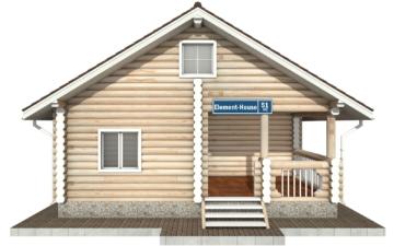 Фото #7: Красивый деревянный дом РС-51 из бревна