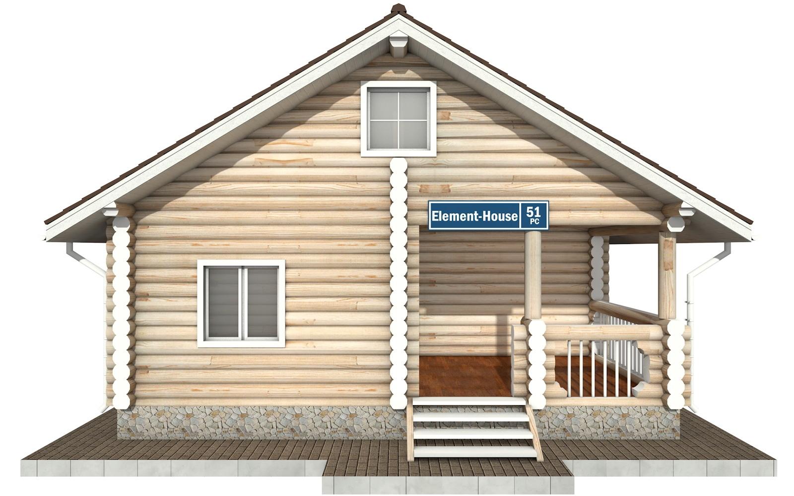 Фото #5: Красивый деревянный дом РС-51 из бревна