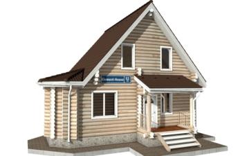 Фото #1: Красивый деревянный дом РС-52 из бревна