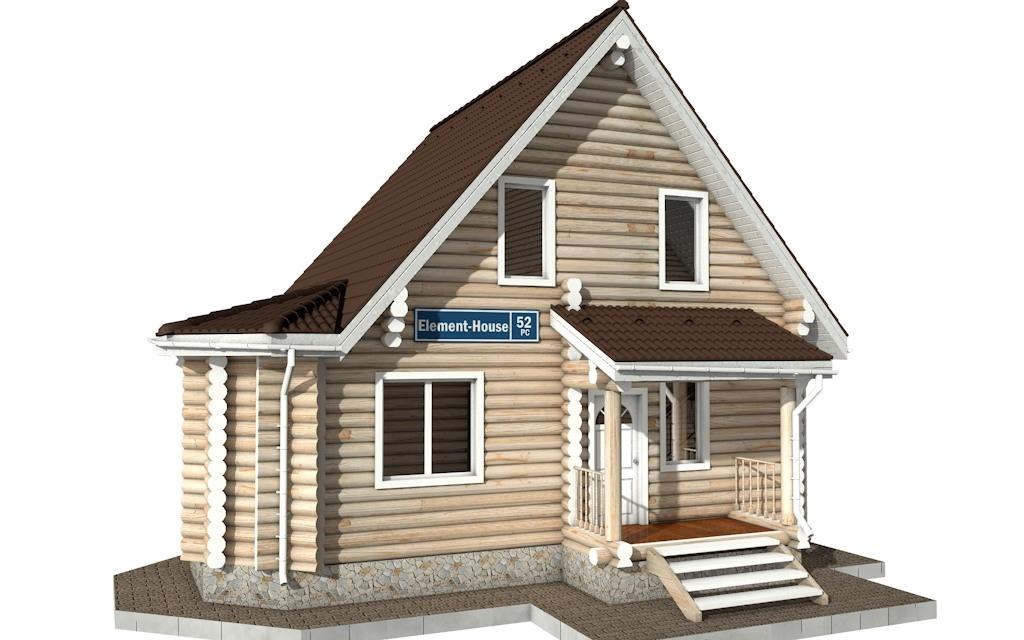 РС-52 - деревянный дома из бревна (из сруба)