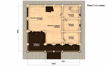 Фото #2: Красивый деревянный дом РС-5 из бревна