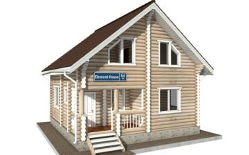 Фото #1: Красивый деревянный дом РС-54 из бревна