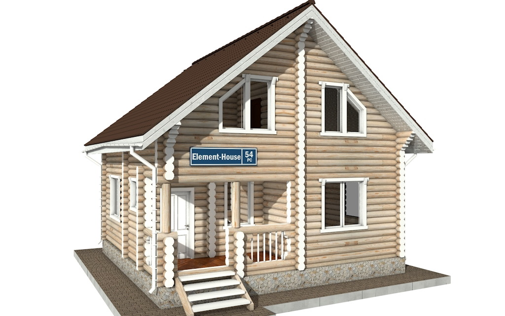 РС-54 - деревянный дома из бревна (из сруба)