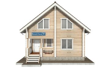 Фото #7: Красивый деревянный дом РС-54 из бревна
