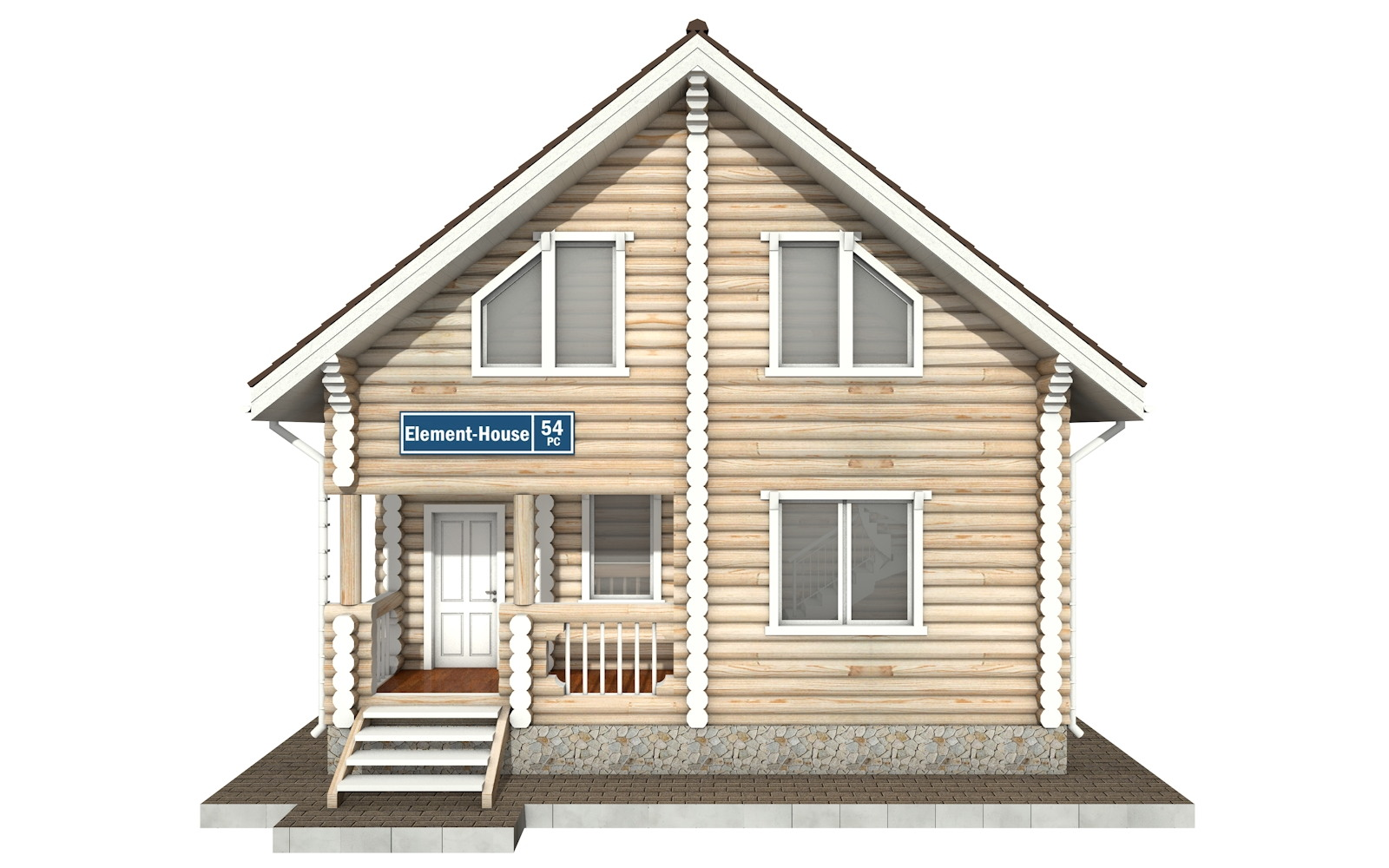 Фото #6: Красивый деревянный дом РС-54 из бревна