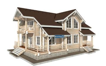 Фото #1: Красивый деревянный дом РС-55 из бревна