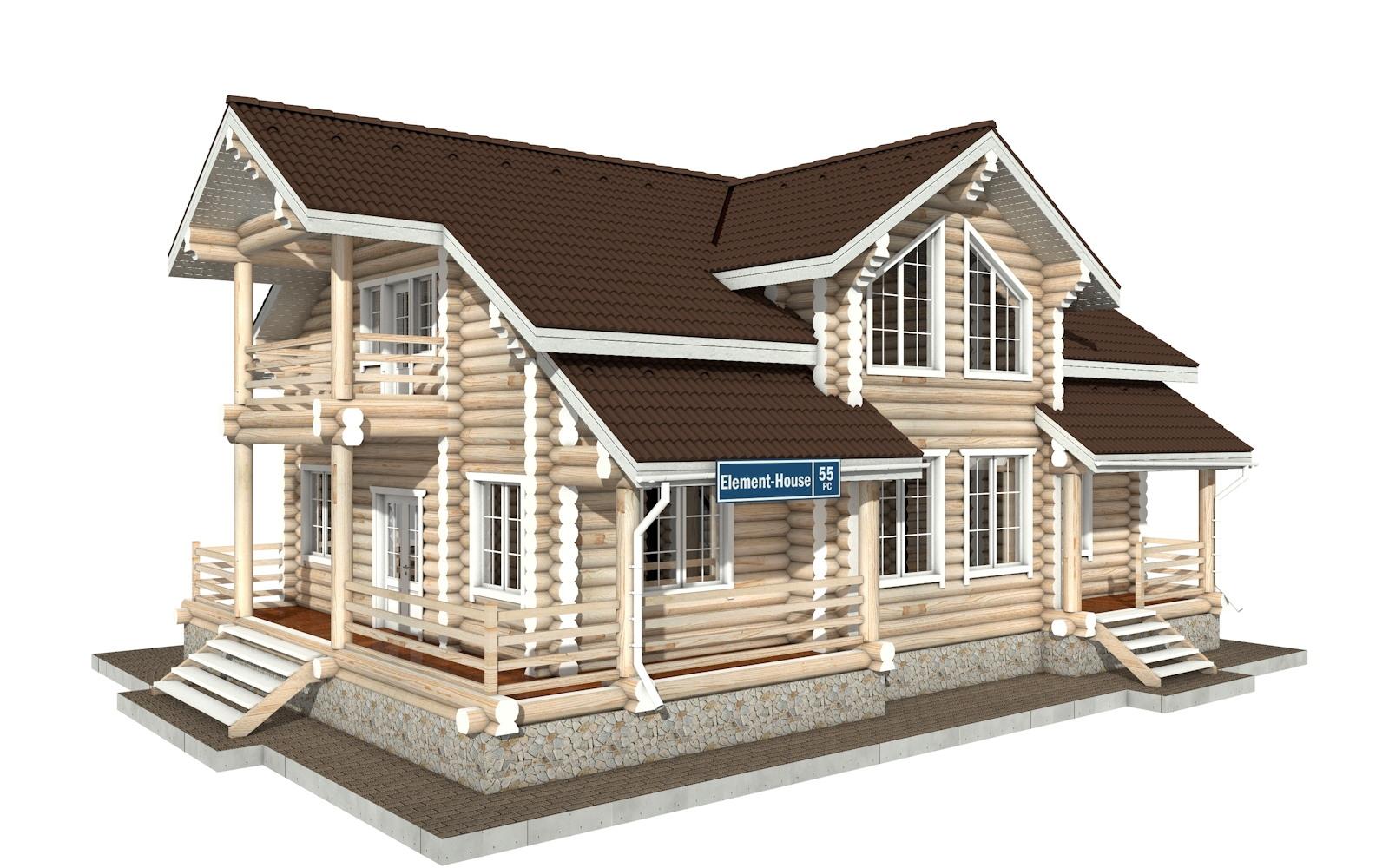РС-55 - деревянный дома из бревна (из сруба)