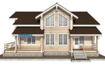 Фото #7: Красивый деревянный дом РС-55 из бревна