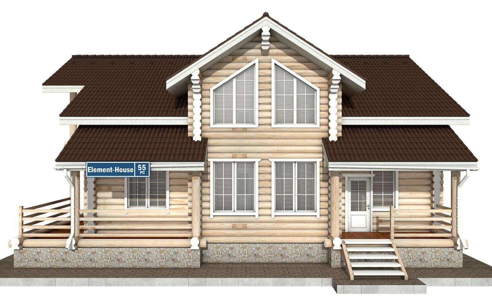 Фото #6: Красивый деревянный дом РС-55 из бревна