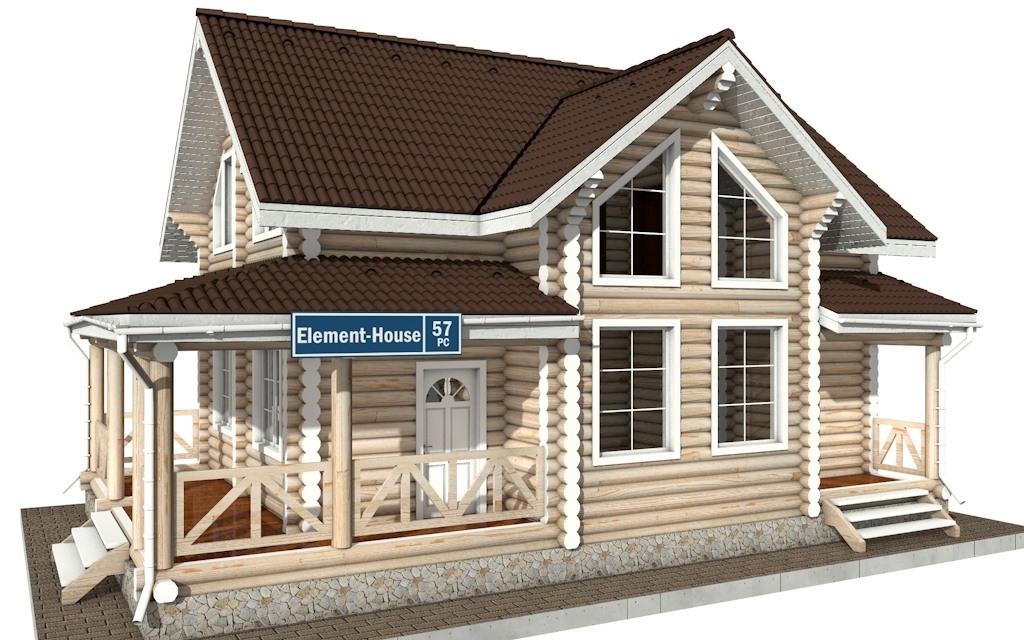 РС-57 - деревянный дома из бревна (из сруба)