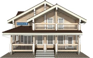 Фото #7: Красивый деревянный дом РС-5 из бревна