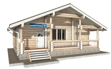 Фото #1: Красивый деревянный дом РС-58 из бревна