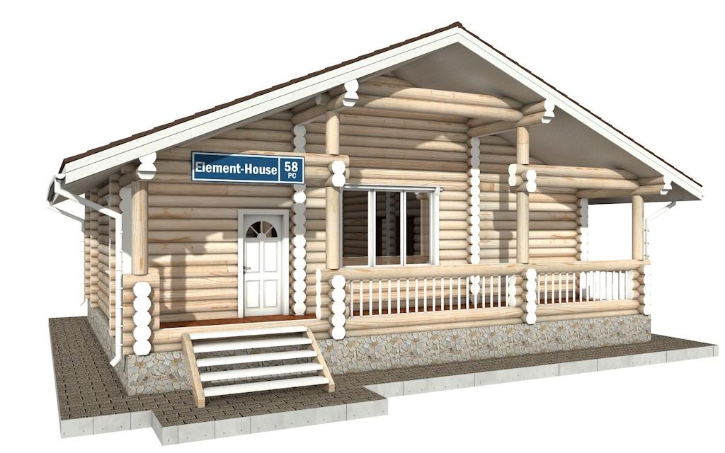 РС-58 - деревянный дома из бревна (из сруба)