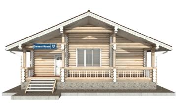Фото #7: Красивый деревянный дом РС-58 из бревна