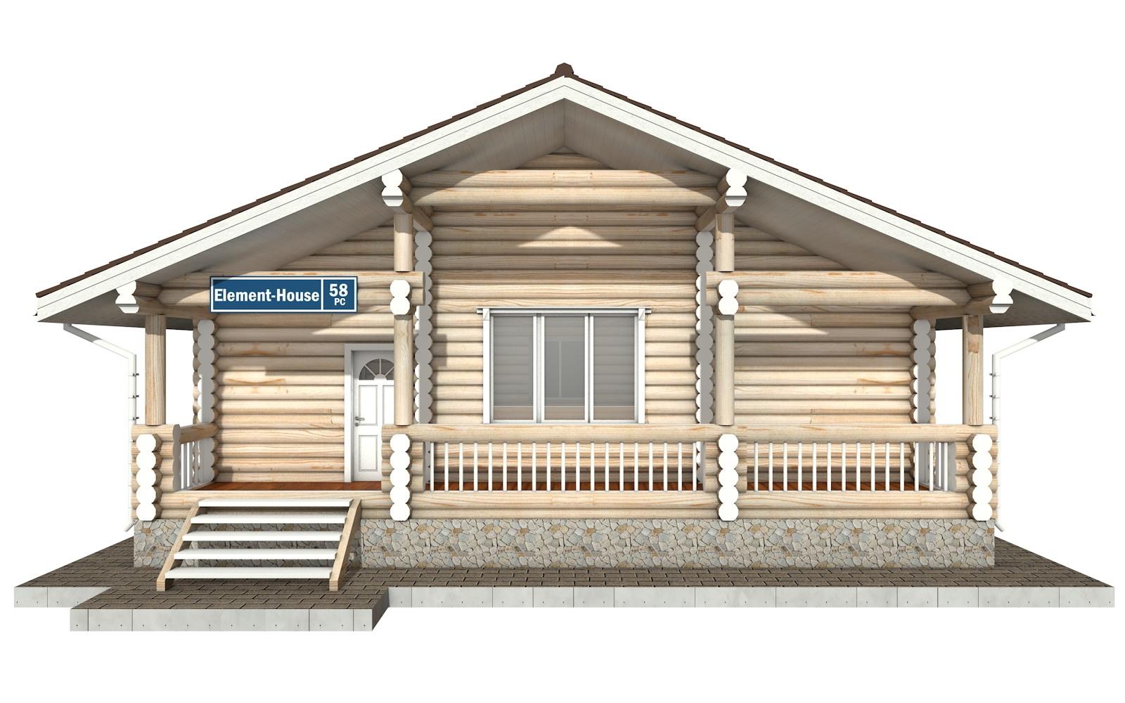 Фото #5: Красивый деревянный дом РС-58 из бревна