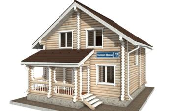 Фото #1: Красивый деревянный дом РС-59 из бревна
